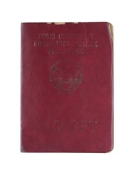 The red passport Union of Soviet Socialist Republics close up.