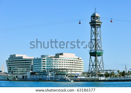 The red port cable in barcelona the official name is transbordador