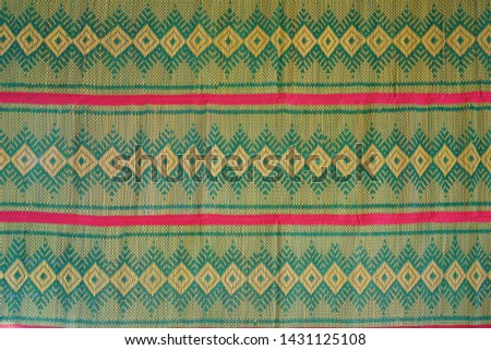 The reed mat brings the papyrus to be transformed into a dyeing line, then woven into a traditional pattern or a patterned pattern with many patterns. To be a sheet Bring to sit, sit or sleep #1431125108