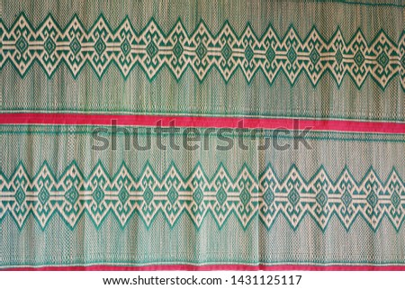 The reed mat brings the papyrus to be transformed into a dyeing line, then woven into a traditional pattern or a patterned pattern with many patterns. To be a sheet Bring to sit, sit or sleep #1431125117
