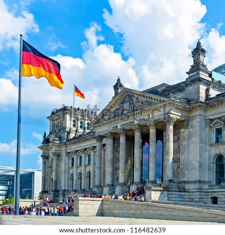 The Reichstag building (1884-1894) seat of the German parliament, designed by Paul Wallot, Berlin, Germany