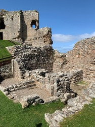 The remains of duffus castle near Elgin