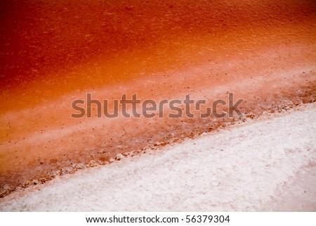 The remarkable salt lake, Pink Lake, not far from Dimboola, Australia.