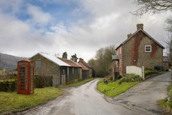 The remote village of Upper Lye, Herefordshire, England.