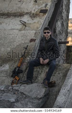 The representative of the Russian mafia, young thug. Organized crime in America.