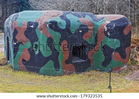 the rest of the fortifications camouflaged bunker WWII