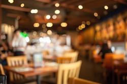 The restaurant blurred background