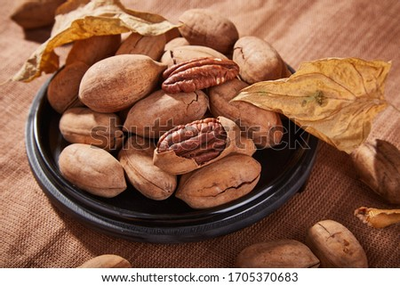 The retro style of Bigen fruit placed in the container Foto stock ©