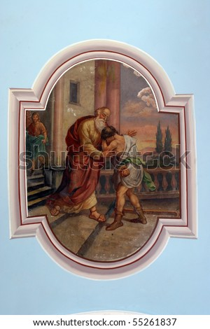 The Return of the Prodigal Son - stock photo