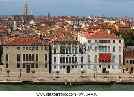 The review from above.  Venice cityscape, Italy