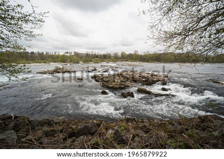 the rhine river in southern germany at the (Isteiner Schwellen). the photos were taken on the french side of the rhine. Stockfoto ©