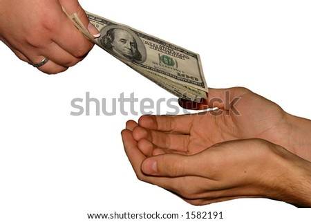 The rich giving to the poor