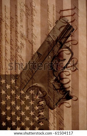 The Right To Bear Arms Conceptual Background Image - stock photo