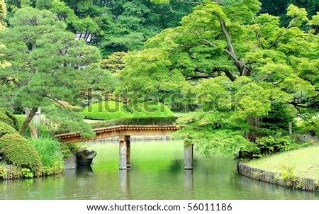 The Rikugien, beautiful Japanese garden in Tokyo, Japan