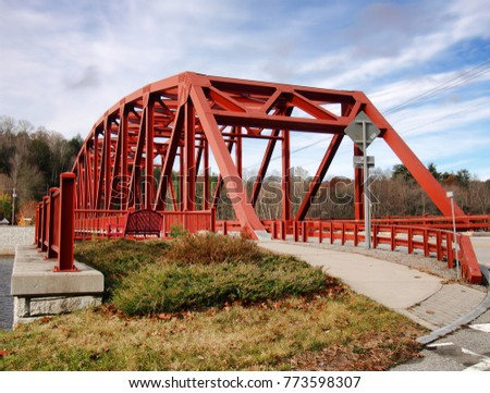 The Riparius Bridge in Riparius, New York , a truss bridge over the Hudson River in the Adirondack State Park