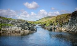 The River Elan flows through the wide expanse of upland moors, traditionally known as Elenydd, in central Wales, it terminates in the reservoirs of the Elan Valley