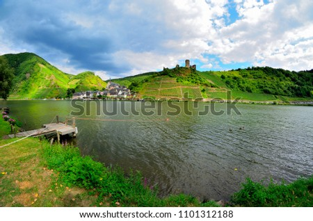 the river Moselle and ist Course as here by known wine-growing area is neither very large nor spectacular, rather lovely and an insider tip for People who want to relax and slow down #1101312188