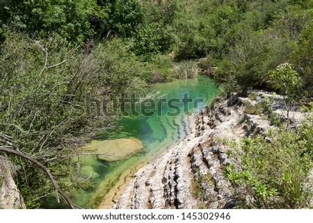 The river of Cavagrande in Sicily #145302946