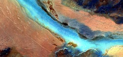 The river of life, abstract photography of the deserts of Africa from the air. aerial view of desert landscapes, Genre: Abstract Naturalism, from the abstract to the figurative, contemporary