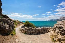 The road along the Black Sea along Cape Alchak