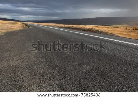 The road, an Iceland landscape