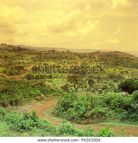 The road to Mount Elgon National Park, Uganda, East Africa