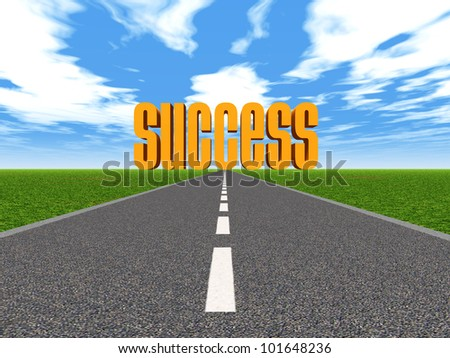 The Road to Success Computer generated 3D illustration