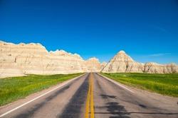 The Road to the Badlands in Badlands National Park