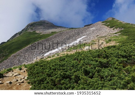 the road to the summit of Mt.kasa, Northern Alps,nagano prefecture,japan Zdjęcia stock ©