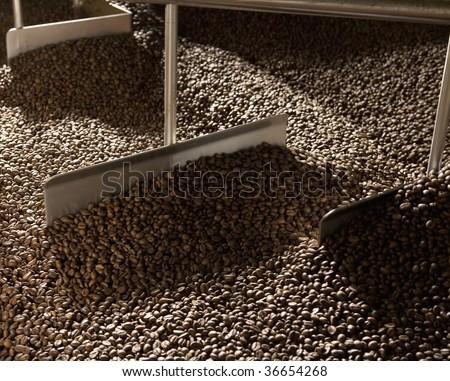 The roasting coffee process