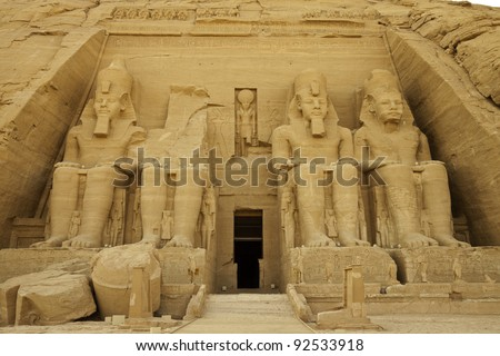 the rock temple of rameses II at abu simbel, a unesco world heritage site, egypt