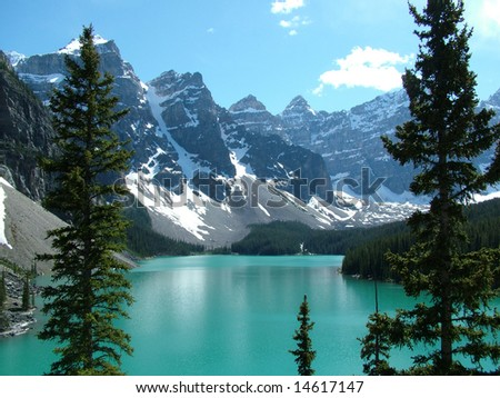 The Rockies - Moraine Lake in Banff National Park, Canada
