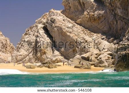 The rocks of Land's End near Cabo San Lucas / Mexico - stock photo