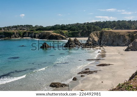 The rocks on the beach, Fort Bragg