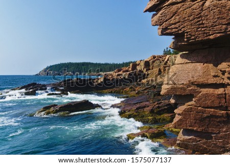 The rocky coastline of Acadia National Park #1575077137