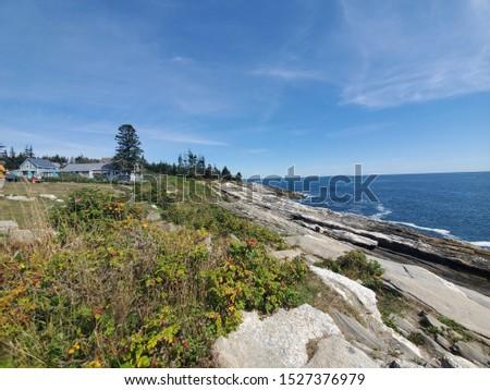 The rocky coastline of Maine