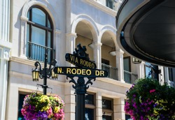 The Rodeo Drive street signs