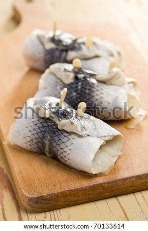 the rollmops on kitchen table