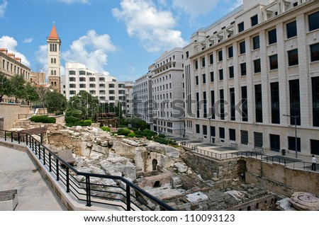 The Roman baths in the Central District of Beirut