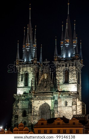 The Roman Catholic parish of Our Lady before Tyn at Old Town Square of Prague, Czech Republic