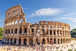 The Roman Colosseum in summer