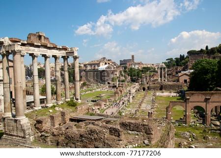 The roman forum in Rome - Italy