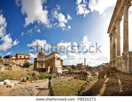 The Roman Forum, Rome, Italy - stock photo