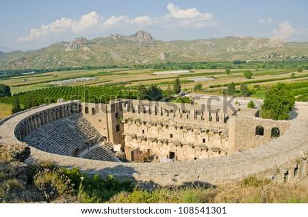 The Roman theater in Aspendos, Turkey