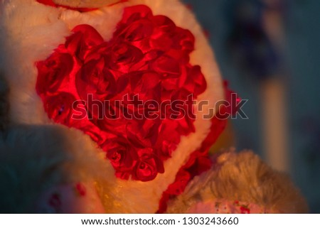 The romantic mood. Romantic background. The valentines day. Red love