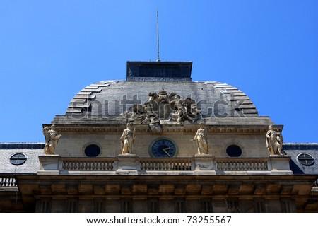The roof of the Palais de Justice, Paris, France
