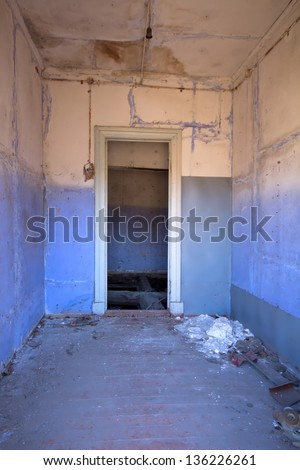 the room in the thrown house in a solitude