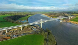 The Rose Fitzgerald Kennedy Bridge is an extradosed bridge over the River Barrow in Ireland. It was built as part of the N25 New Ross Bypass, and was officially opened on 29 January 2020.
