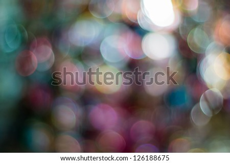 The round bokeh in variety colouful light