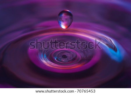 The round drop of water